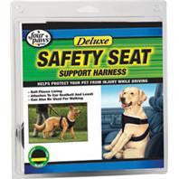 Four Paws Products Ltd-Safety Seat Support Harness- Black Medium - Key Pet Supplies