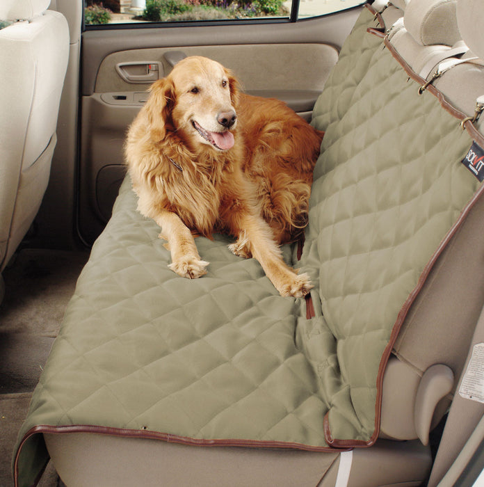 Solvit Products-Deluxe Bench Seat Cover- Natural Large - Key Pet Supplies
