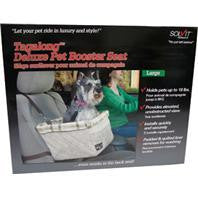 Solvit Products-Deluxe Tagalong Booster Seat- Taupe Large - Key Pet Supplies