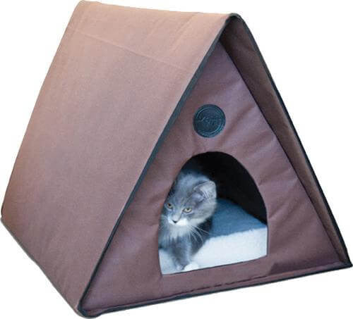 K&h Pet Products Llc - Outdoor Heated Multi-kitty A-frame