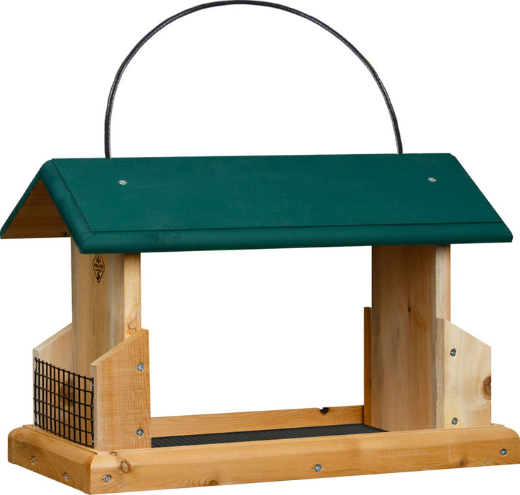 Welliver Outdoors - Open Air Feeder Deluxe Cedar With Suet Holders - Key Pet Supplies