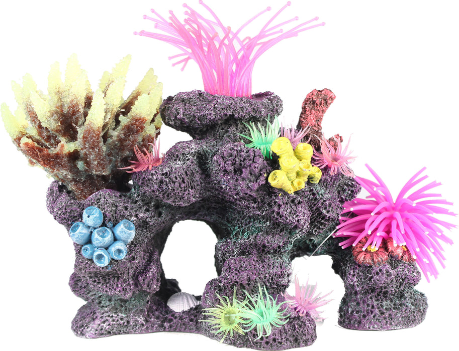 Poppy Pet-Coral Reef Formation 9x5x8 - Key Pet Supplies