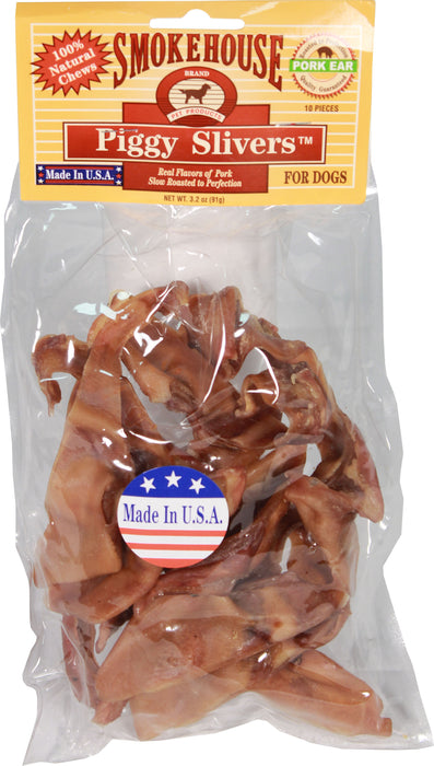Smokehouse Pet Products - Usa Made Piggy Slivers - Key Pet Supplies