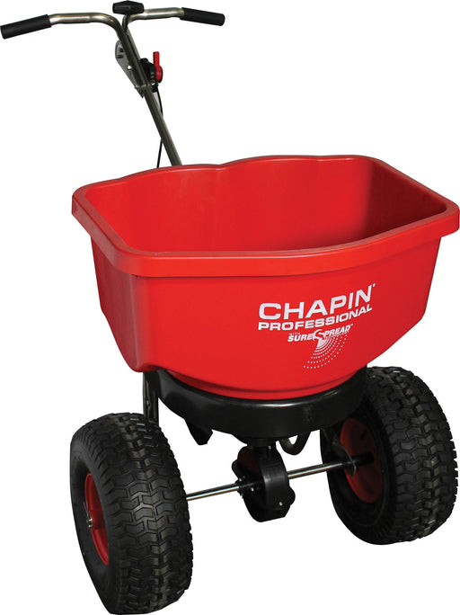 Chapin Manufacturing P-Sure Spread All-season Professional Spreader- Red 100 Pound - Key Pet Supplies