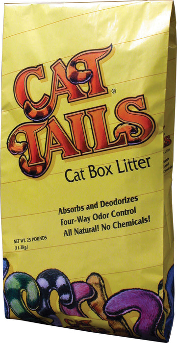 American Colloid Company-Cat Tails Cat Box Litter- Unscented 25 Lb - Key Pet Supplies