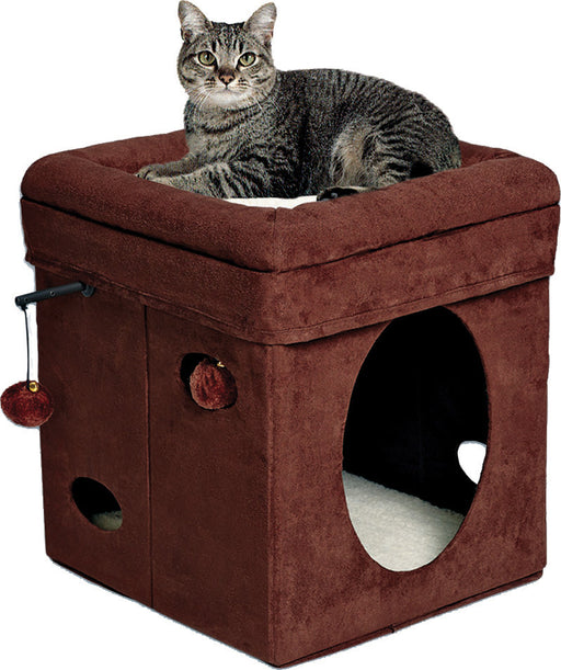 Midwest Homes For Pets - Feline Nuvo Curious Cat Cube - Key Pet Supplies