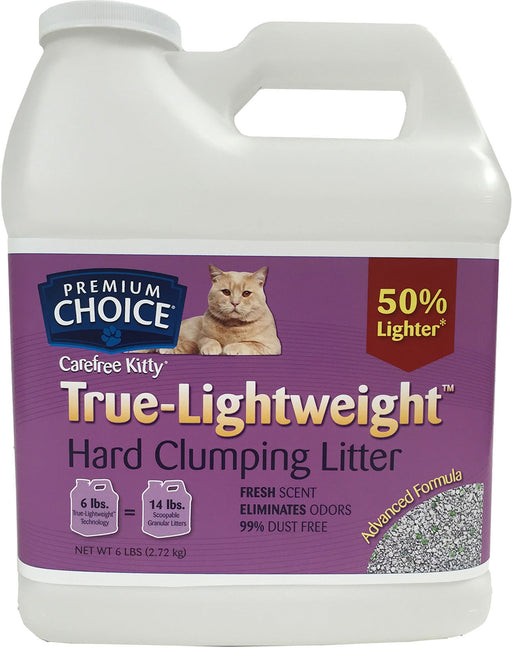 American Colloid Company-Premium Choice True-lightweight Scoopable Litter- Fresh Scent 6 Lb - Key Pet Supplies