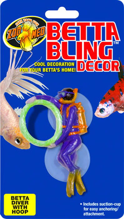 Zoo Med Laboratories Inc-Betta Bling Diver With Hoop - Key Pet Supplies
