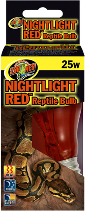 Zoo Med Laboratories Inc-Nightlight Red Reptile Bulb 25 Watt - Key Pet Supplies