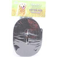 Coastal Pet Products-Train Right! Cotton Web Dog Training Leash- Black 20 Ft - Key Pet Supplies