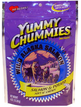 Arctic Paws-Yummy Chummies Soft N Chewy Dog Treats- Salmon Potato 4 Oz