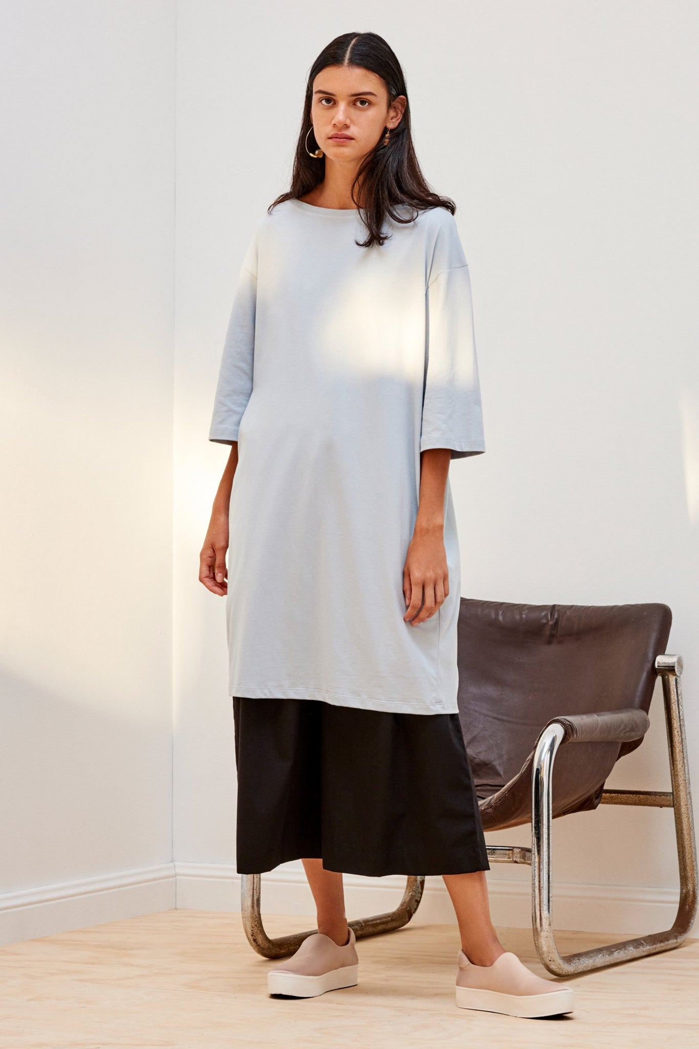 Relaxed Boat Neck Dress