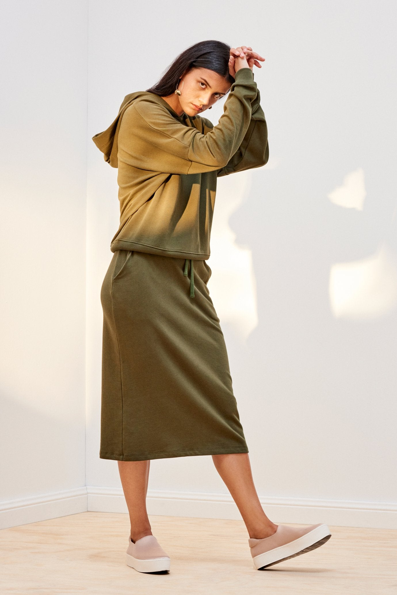 Building Block Skirt, Army Green