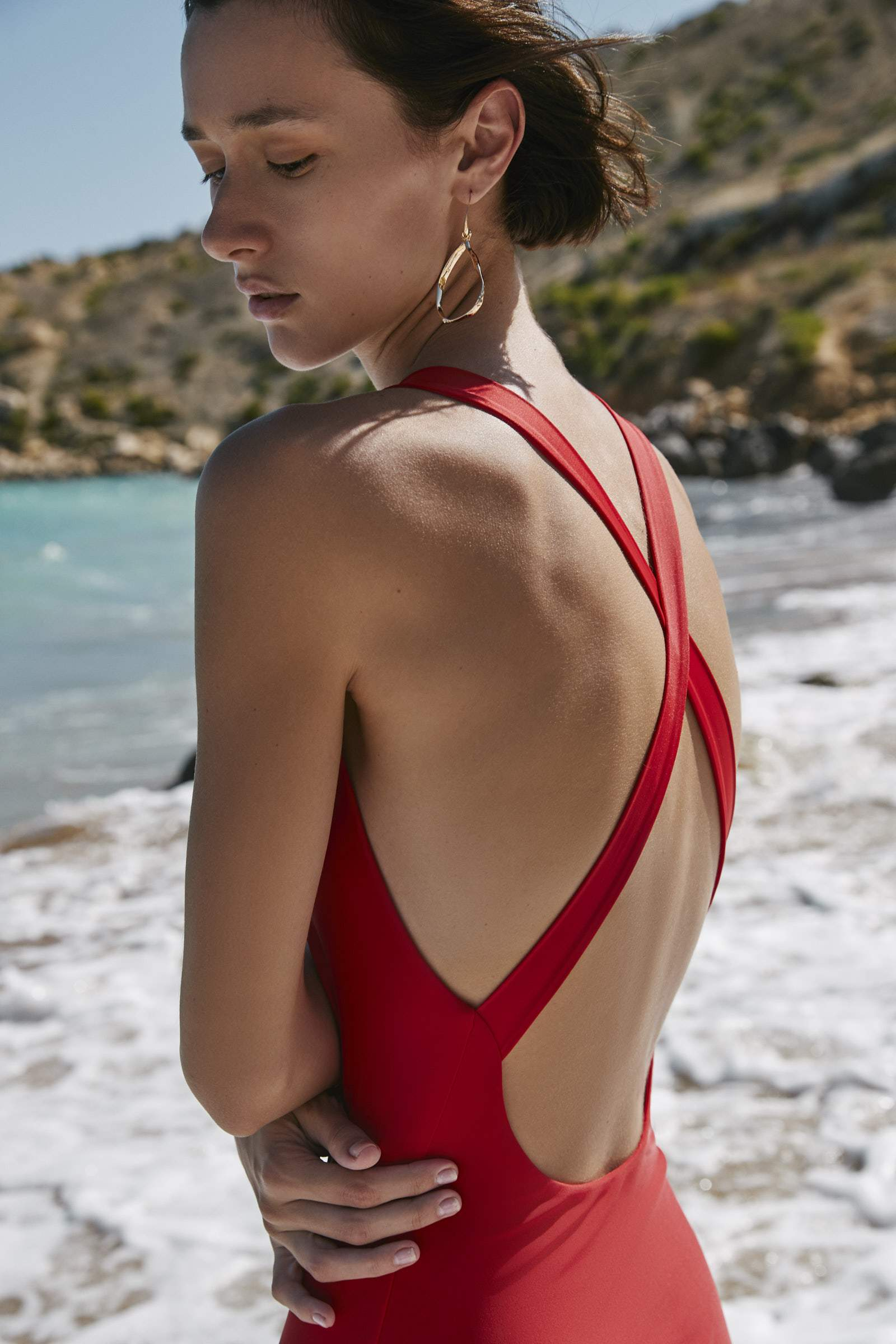 Cross Back One Piece