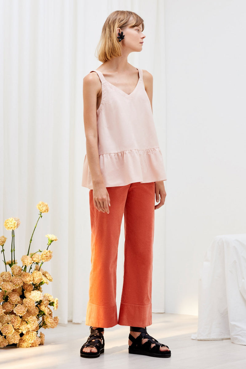 Linear Top, Blush
