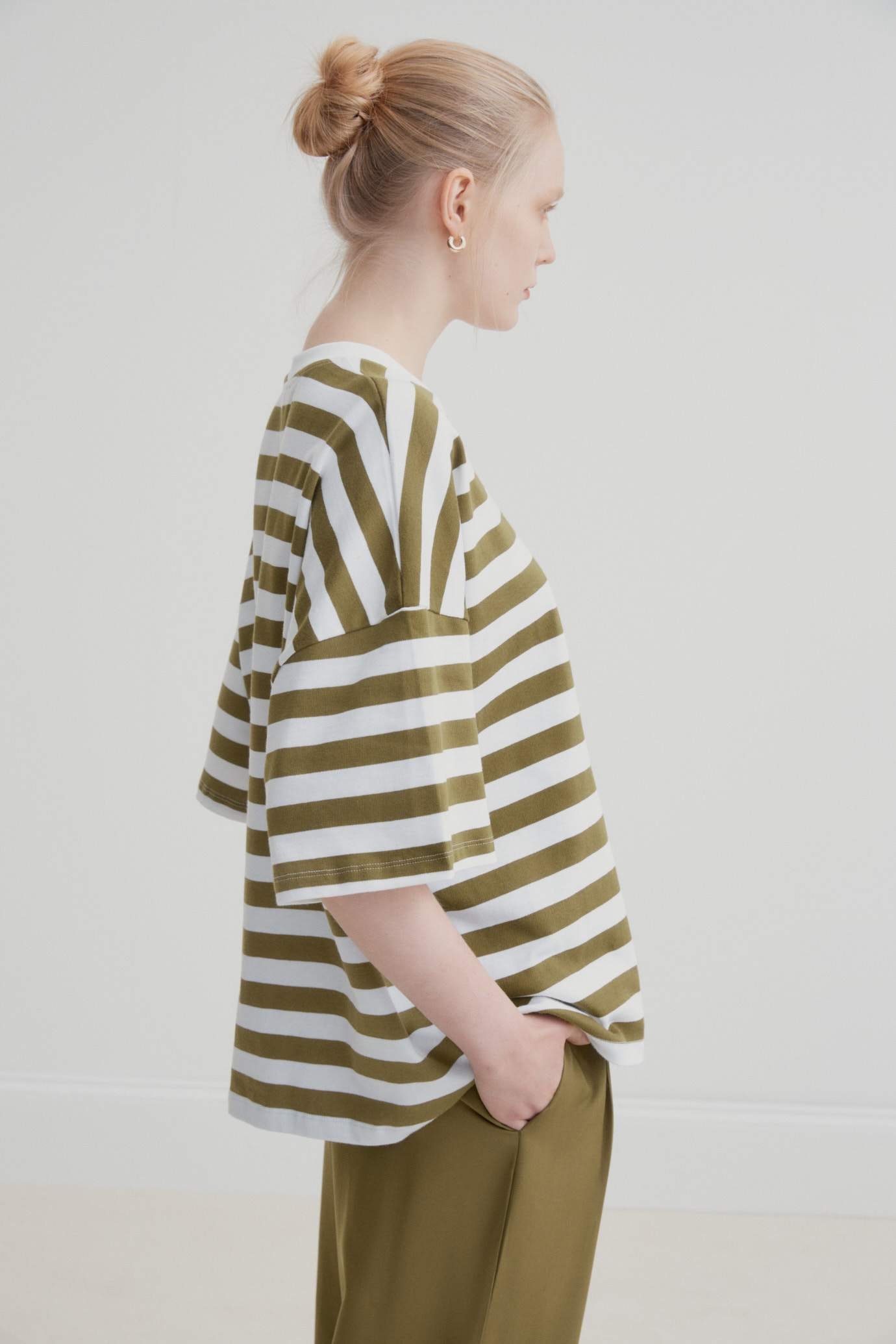Oversized Stripe Boxy Tee