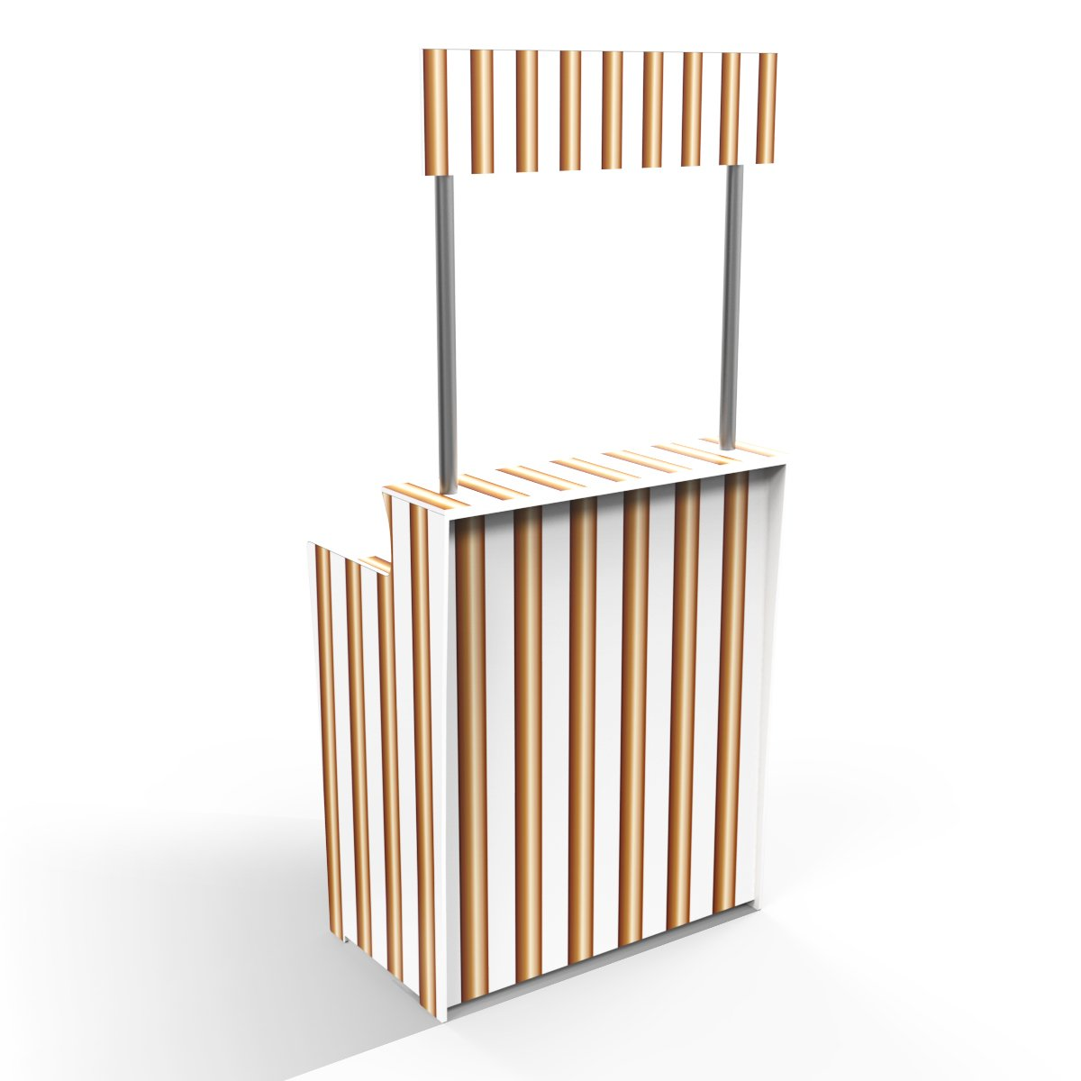 Copper Stripes 'Pop Up Bar'