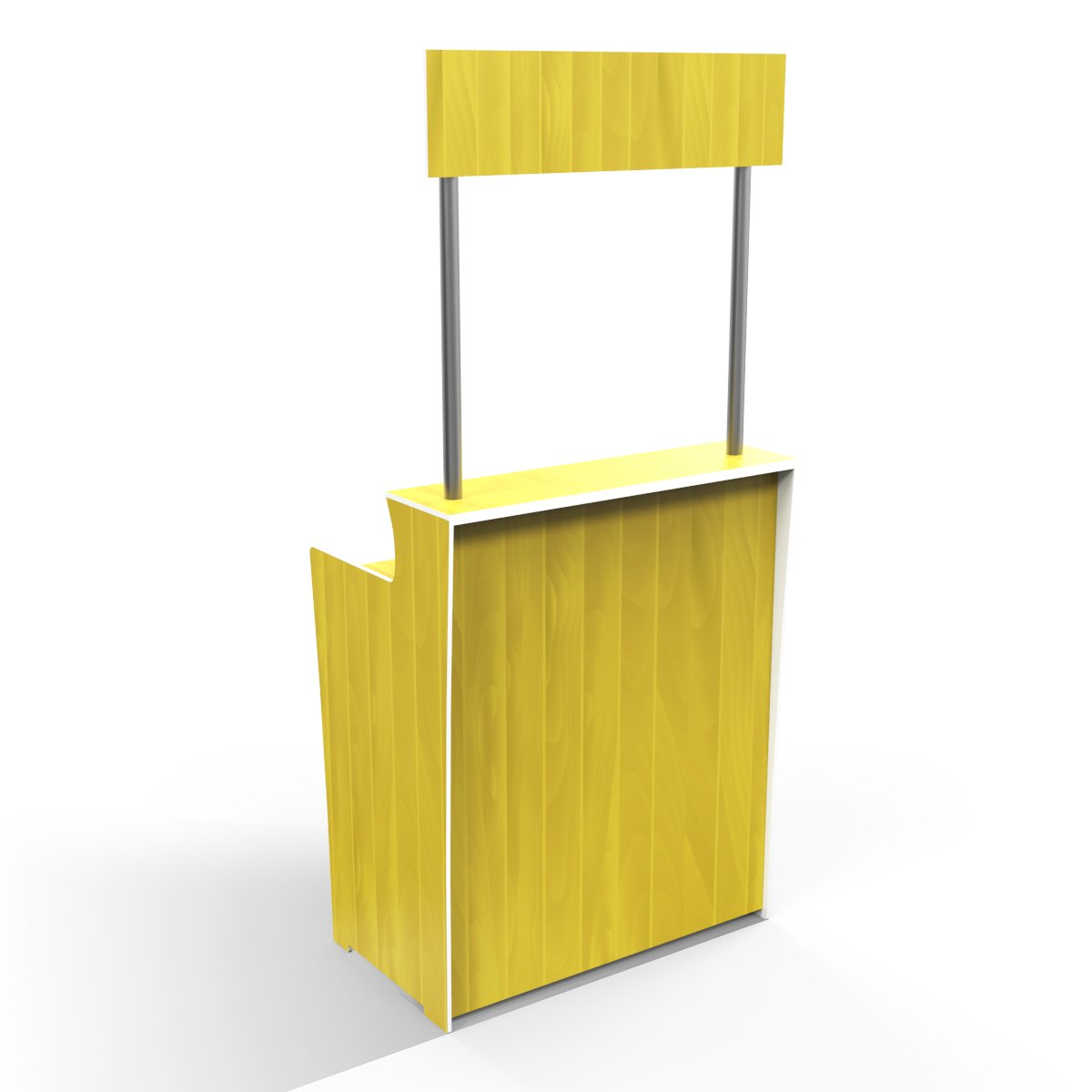 Canary Yellow Timber Grain 'Pop Up Bar'