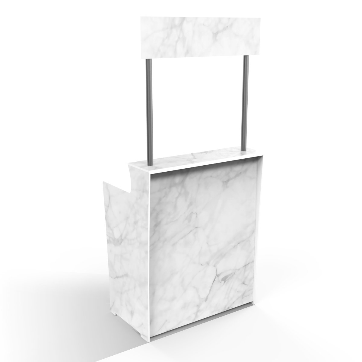 White Marble 'Pop Up Bar'