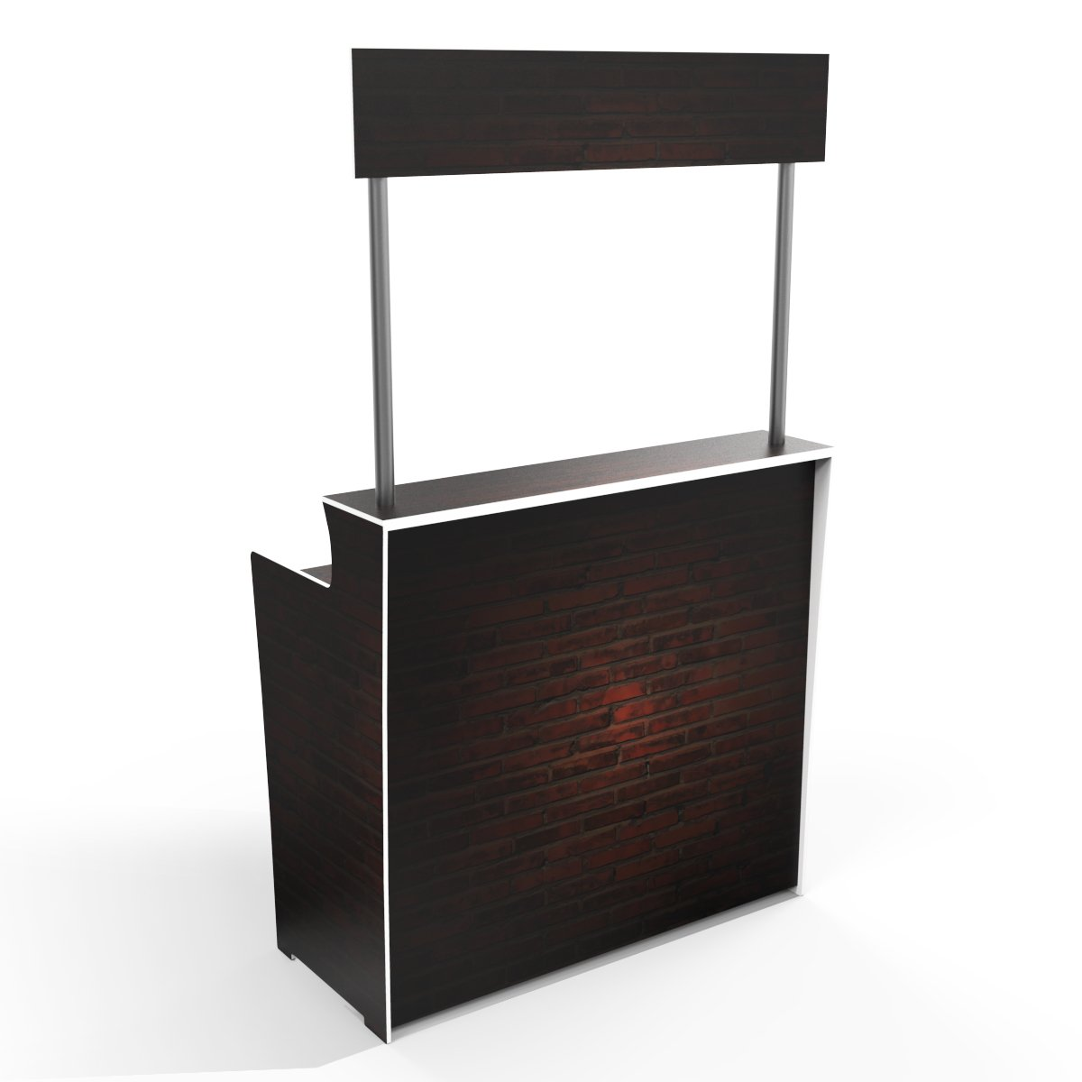 Dark Brick Pattern 'Pop Up Bar'