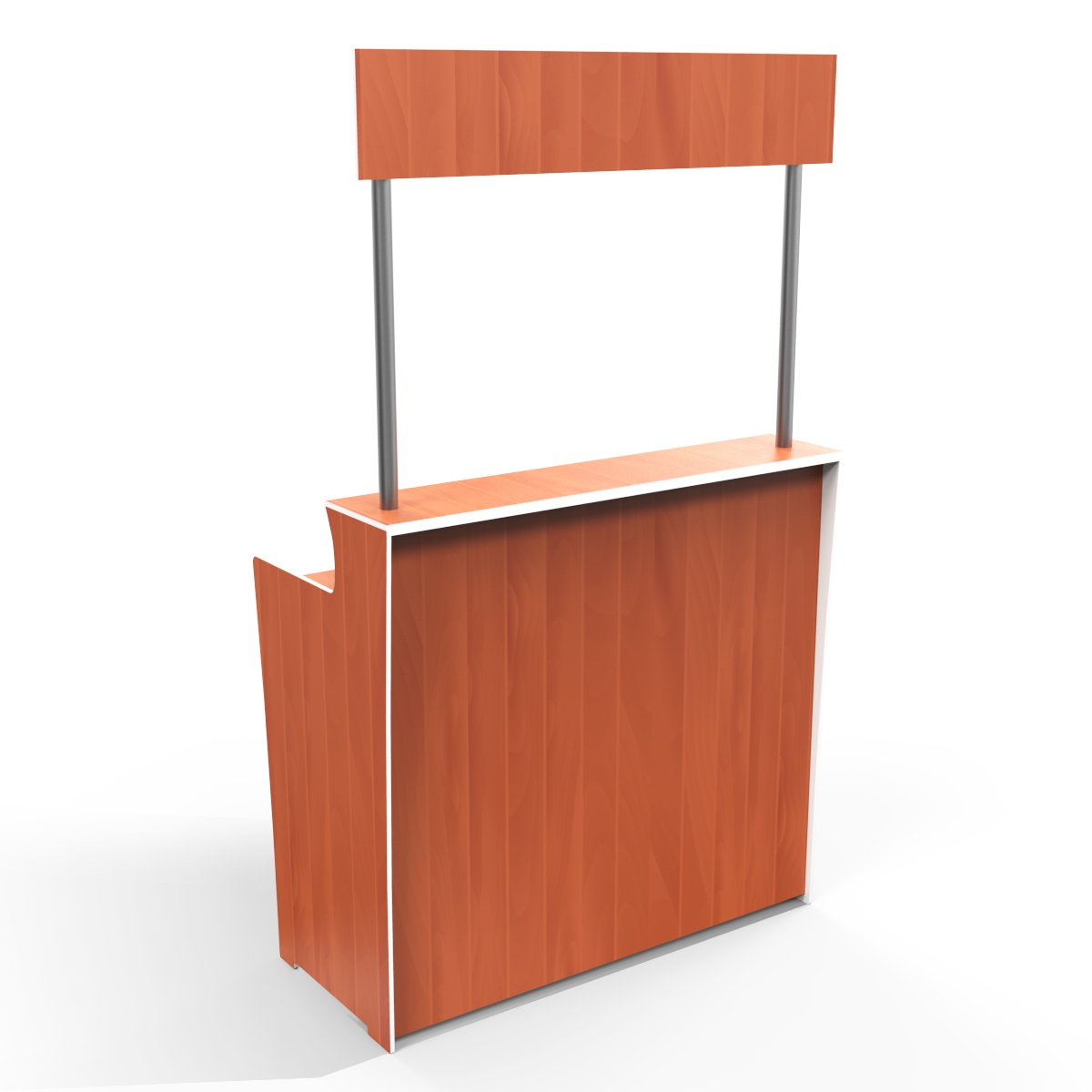 Orange Timber Grain 'Pop Up Bar'