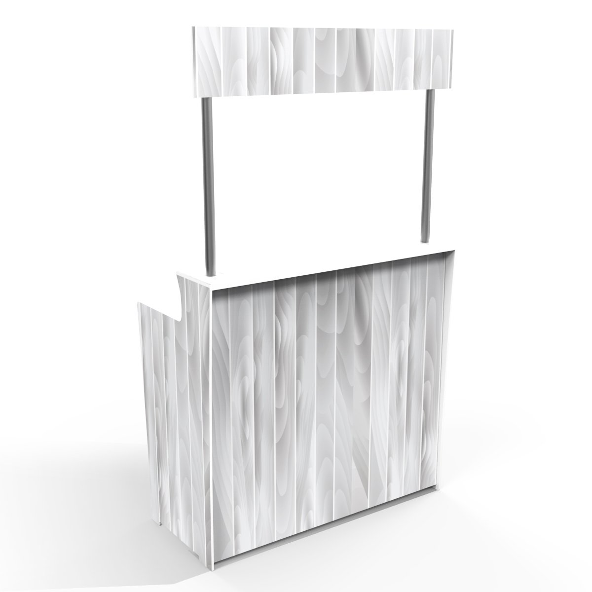 White Timber Grain 'Pop Up Bar'