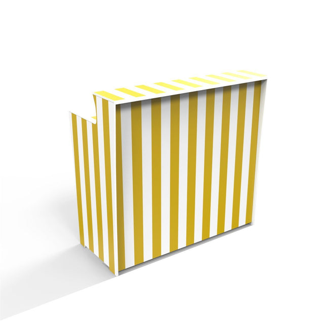 www.popupbars.com Mobile Bar Yellow Beach Stripes 'Pop Up Bar'