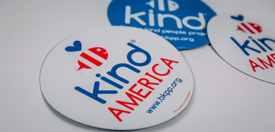 Be Kind America White Car Magnet ($4.50)