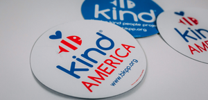 Be Kind America White Car Magnet