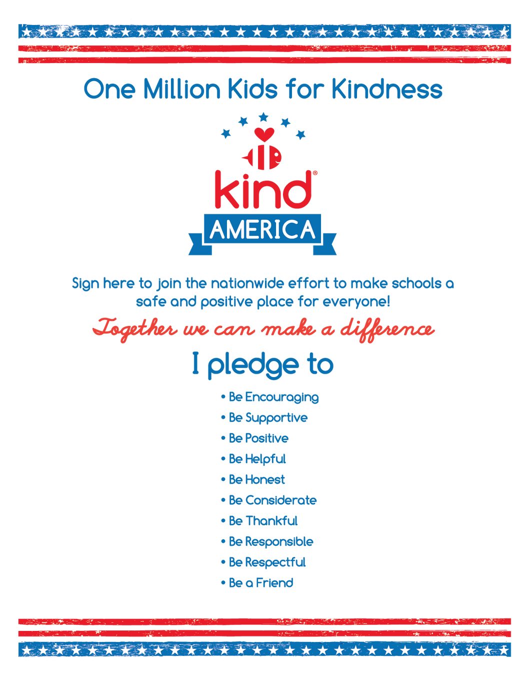 Be Kind America Kid's Poster ($3.50)