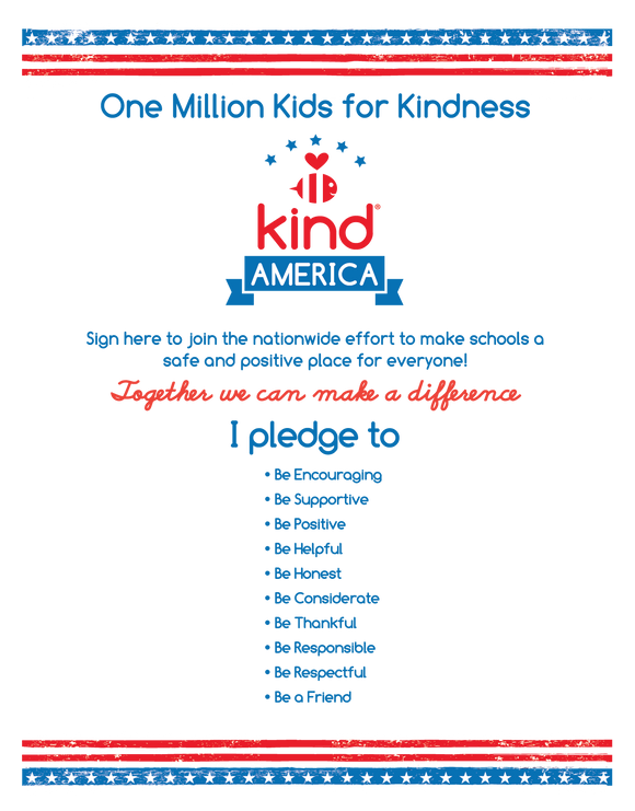 Be Kind America Kid's Poster