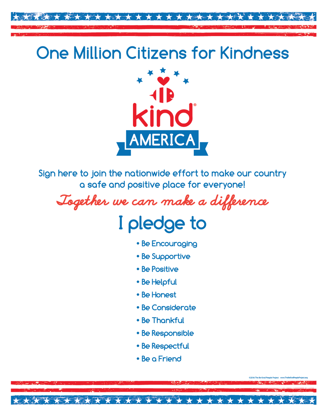 Be Kind American Citizen Poster ($3.50)