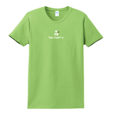 Ladies Be Merry Green Holiday T Shirt