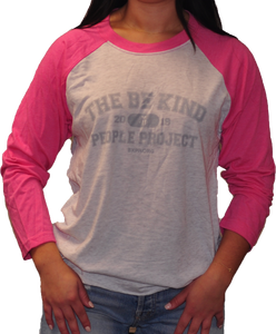 Athletic Baseball Pink Quarter Sleeve