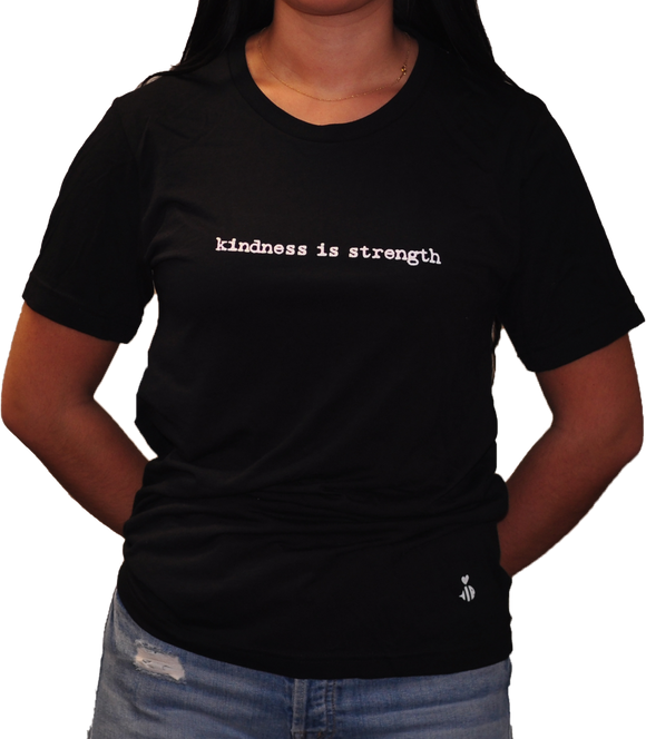Kindness is Strength Black Tee