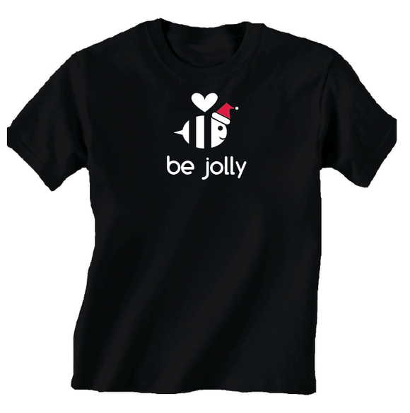 Youth Be Jolly Black Holiday T Shirt