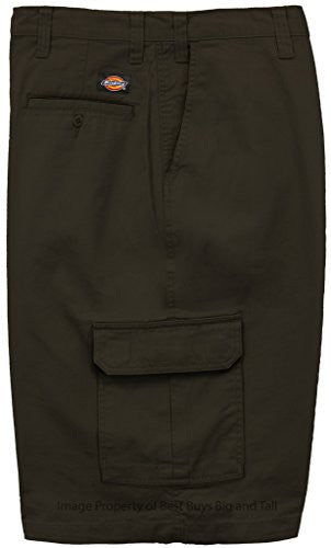"Big Men's Dickies Cargo Shorts Loose Fit - 13"" Inseam (48, Black)"