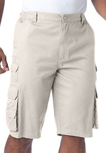 Kingsize Men's Big & Tall Ranger Side Elastic Cargo Shorts, Storm Big-56