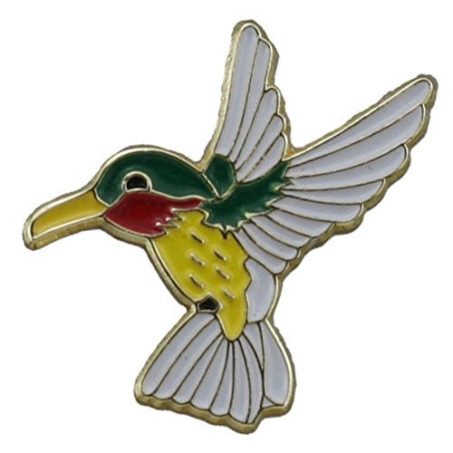 Helen's Hummingbirds Gold Plated Lapel Pin 7/8 Inch Hat Tac