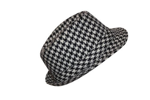 Bear Bryant Style Fedora Houndstooth Hat (S/M)