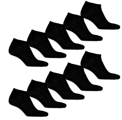 Best Brands Basics Men's Big & Tall King Size Low Cut No Show Athletic Socks - 6 Pairs (Shoe Size 6-12, 6 Pairs - Black)