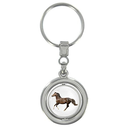 Horse Image Design Spinning Keyring in Gift Box