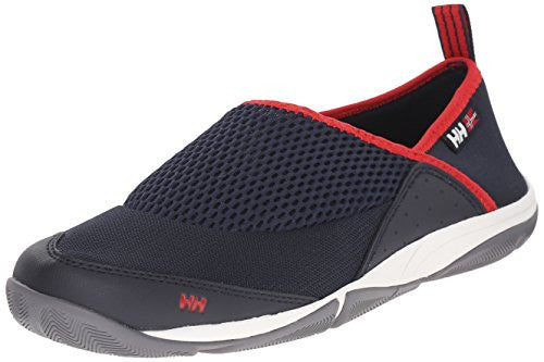 Helly Hansen Men's Watermoc 2 Water Shoe, Navy/Red/Mid Grey/o, 8 M US