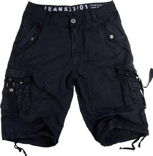 Mens Navy Cargo Shorts Military #A8s Size:42