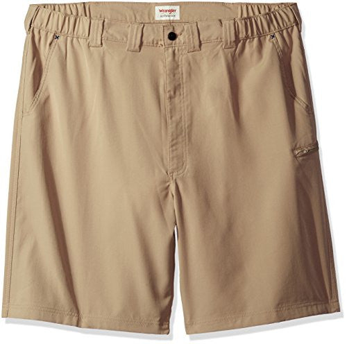 Wrangler Men's Big and Tall Authentics Performance Side Elastic Utility Short, Desert Sand, 44