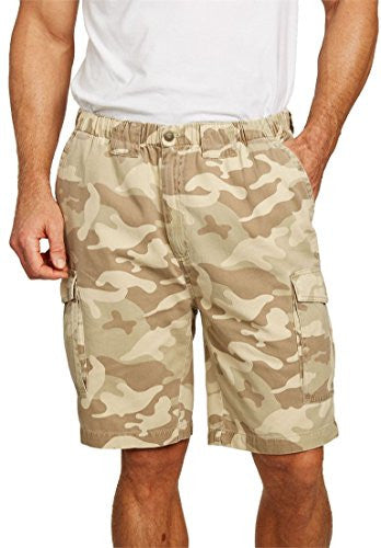 "Boulder Creek Men's Big & Tall 9"" Renegade Cargo Shorts With Full Elastic Waist,"