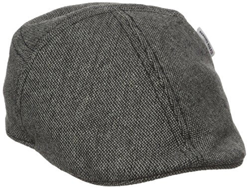 Ben Sherman Men's Pieced Fitted Driving Cap, Black, L-XL