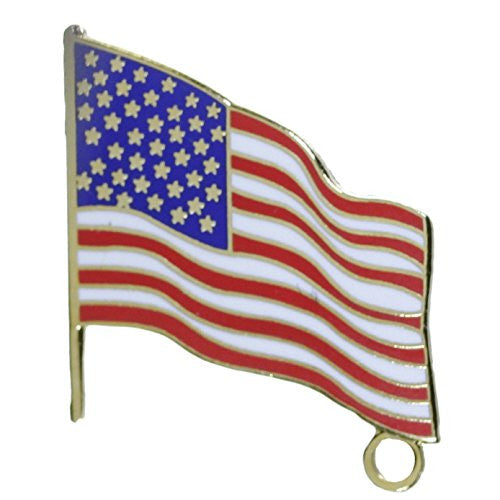 American Flag with Loop One Inch Tall