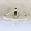 Vicelia Green Oval Cut Sapphire and Diamond Ring