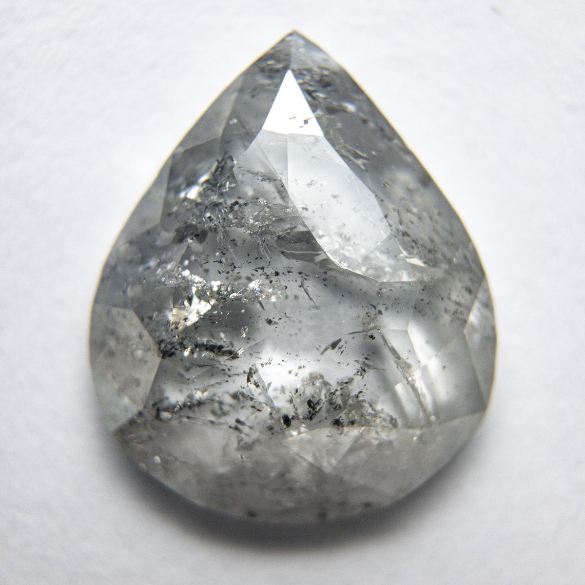 4.06ct 13.55x11.28x3.11mm Pear Rosecut 18189-02